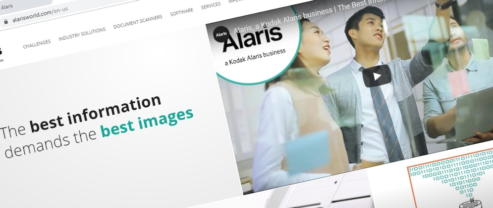 shows a screenshot from the Alaris website