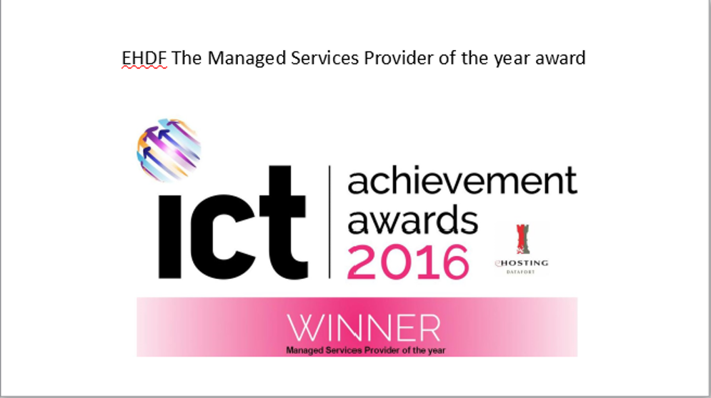 EHDF wins Managed Services Provider of the year award