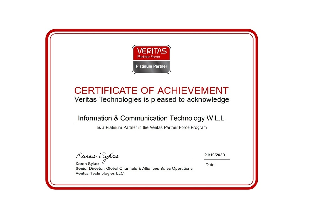 shows a screenshot of an award certificate