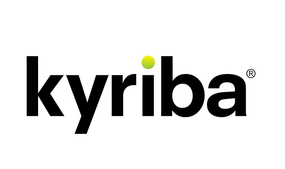 shows a logo with the word kyriba