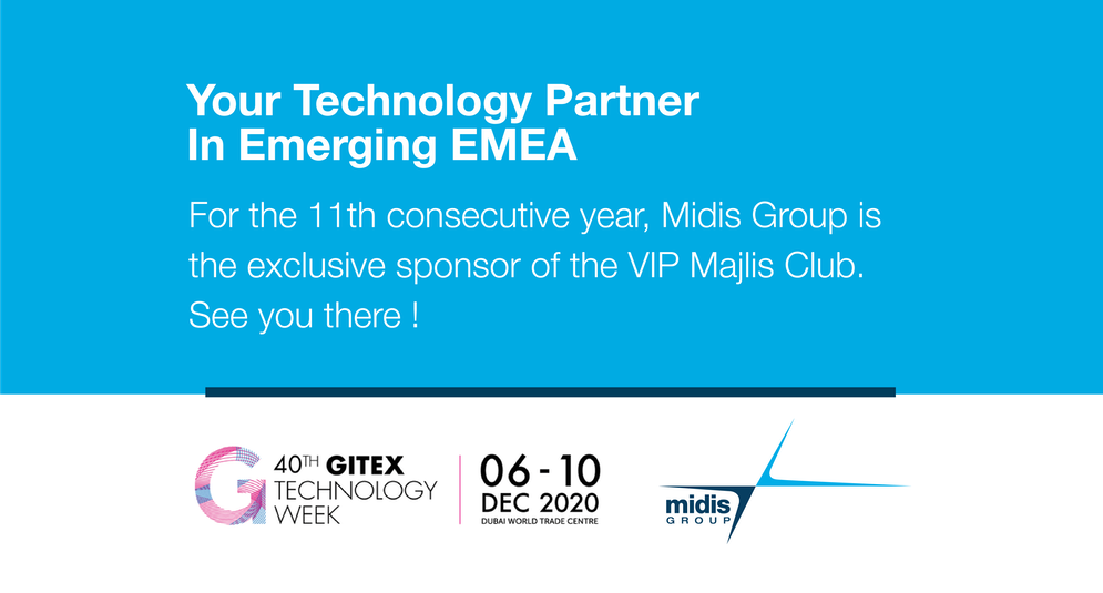 Screen shot of video with the words GITEX technology Week live in person, Dubai