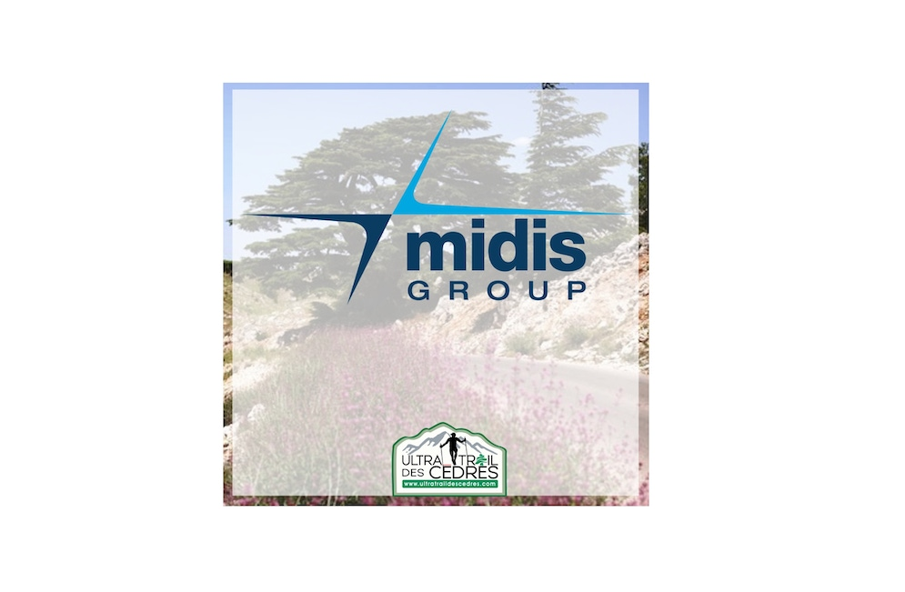 shows a large midis logo overlaying a mountain view and an ultra trail logo