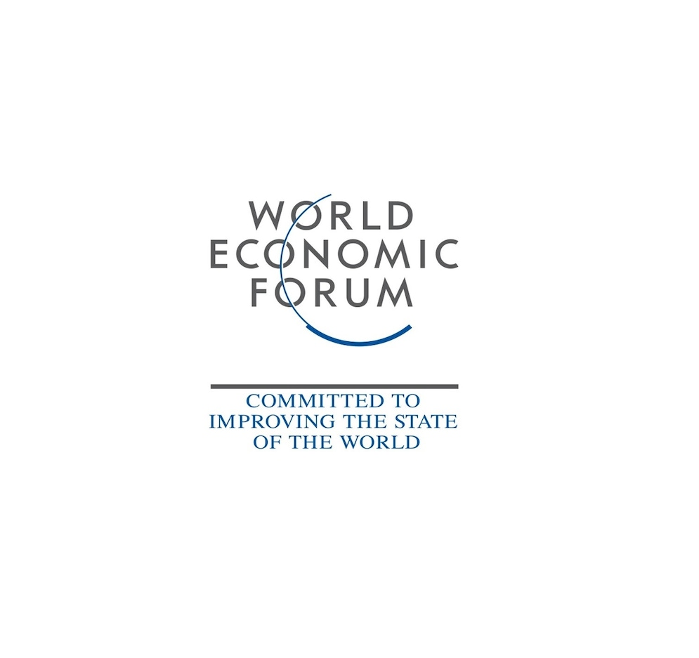 shows a logo titled the world economic forum