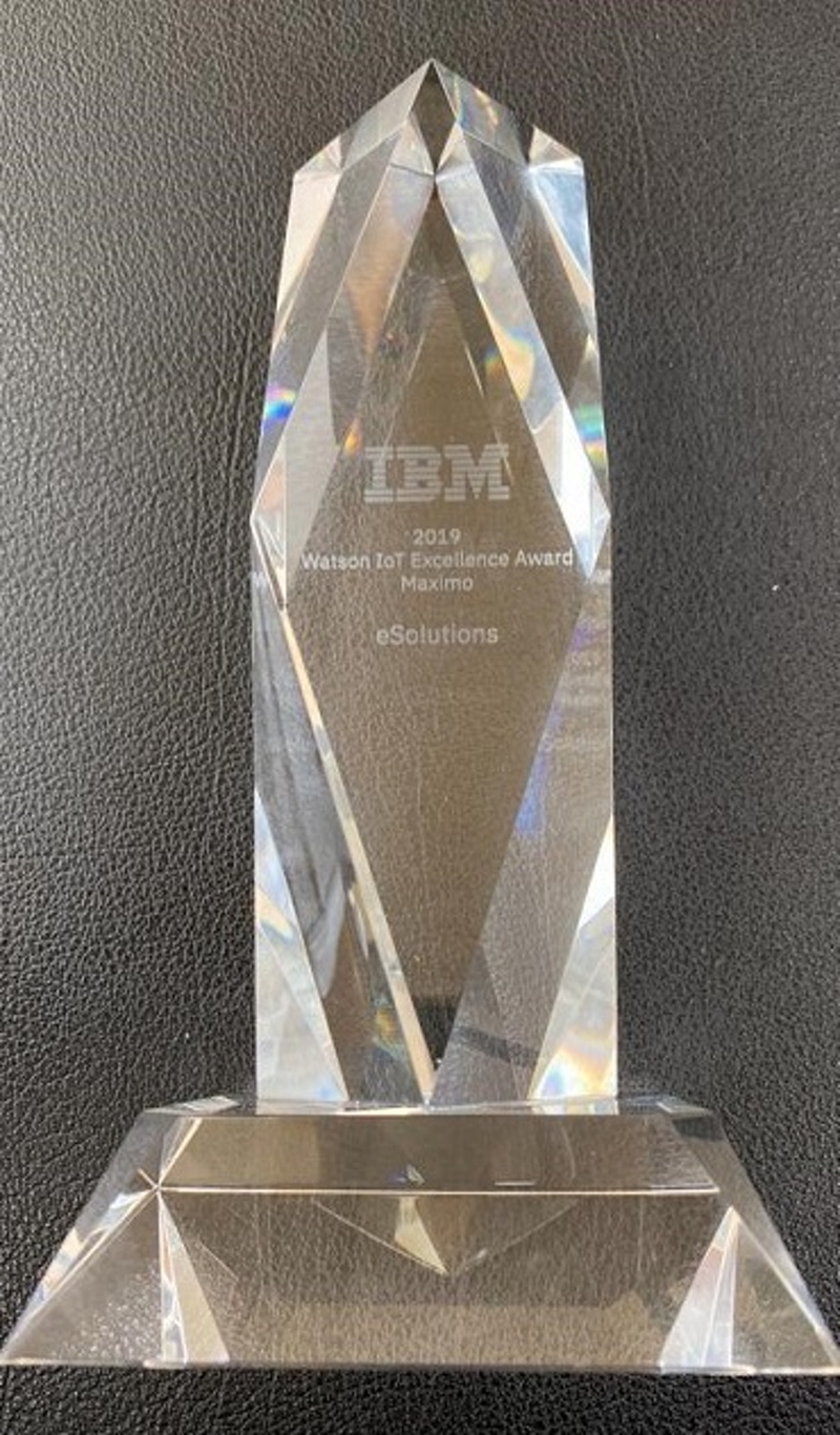 shows an award made in glass