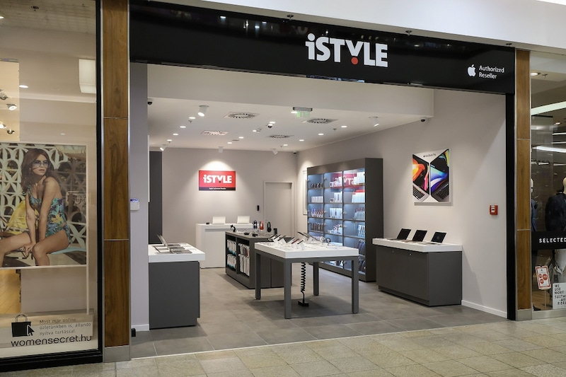 shows a newly opened hi tech store